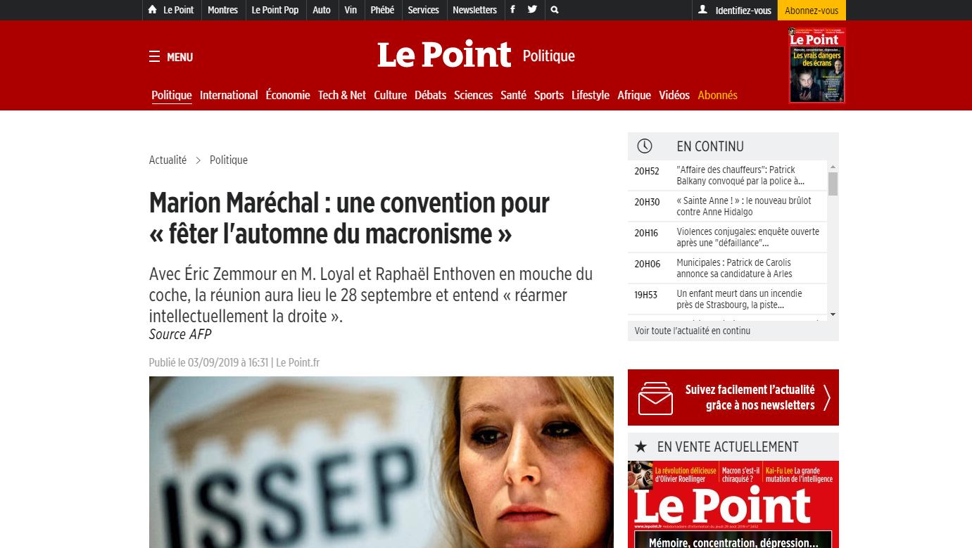 2019-09-03 20_57_47-MarionMaréchal_ une convention pour «fêter l'automne du macronisme» - Le Poi