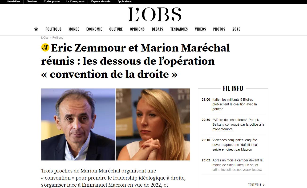 2019-09-03 21_05_46-Eric Zemmour et Marion Maréchal réunis_ les dessous de l'opération «convention