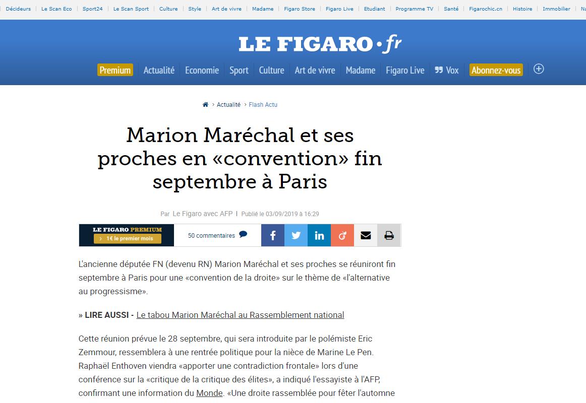 2019-09-03 21_08_27-Marion Maréchal et ses proches en «convention» fin septembre à Paris