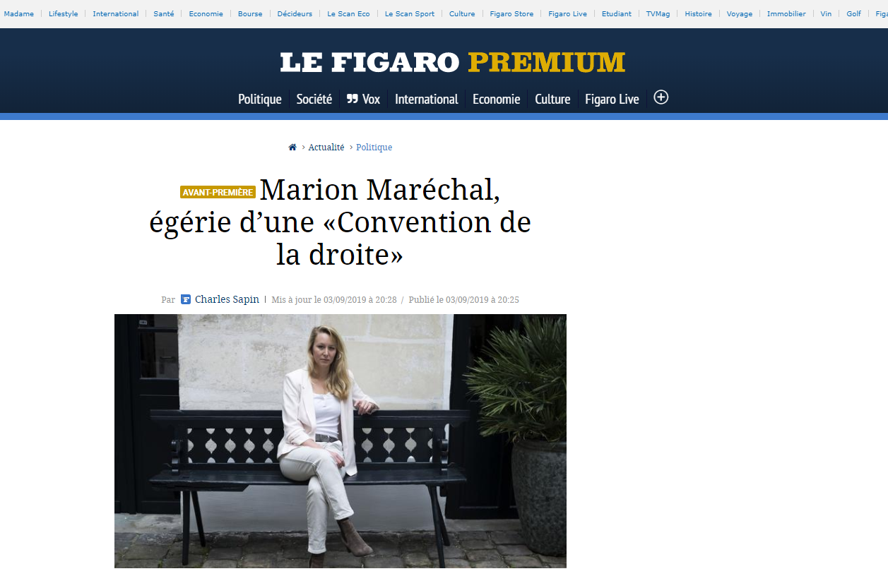 2019-09-03 21_14_35-Marion Maréchal, égérie d'une «Convention de la droite»