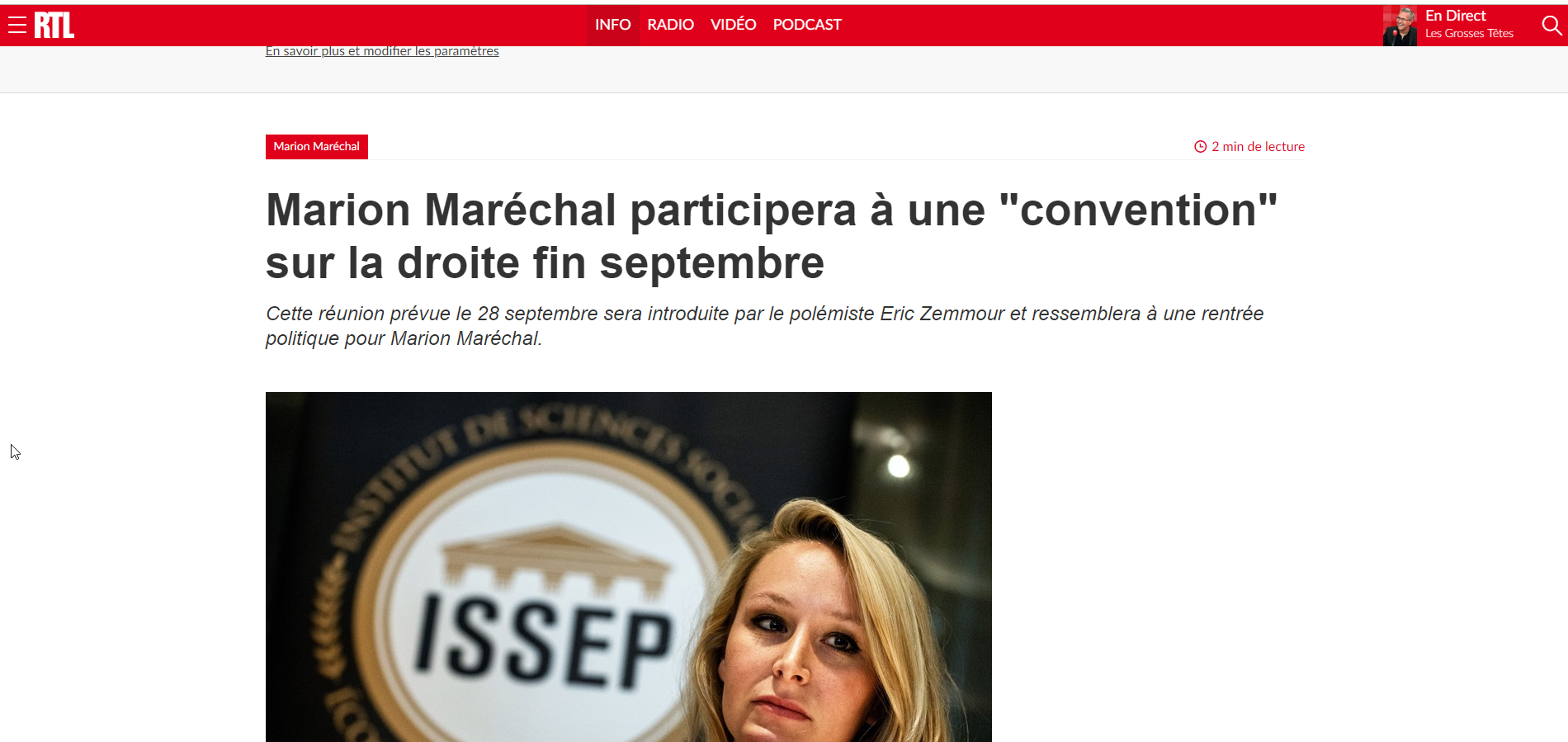 2019-09-04 17_49_06-Marion Maréchal participera à une _convention_ sur la droite fin septembre