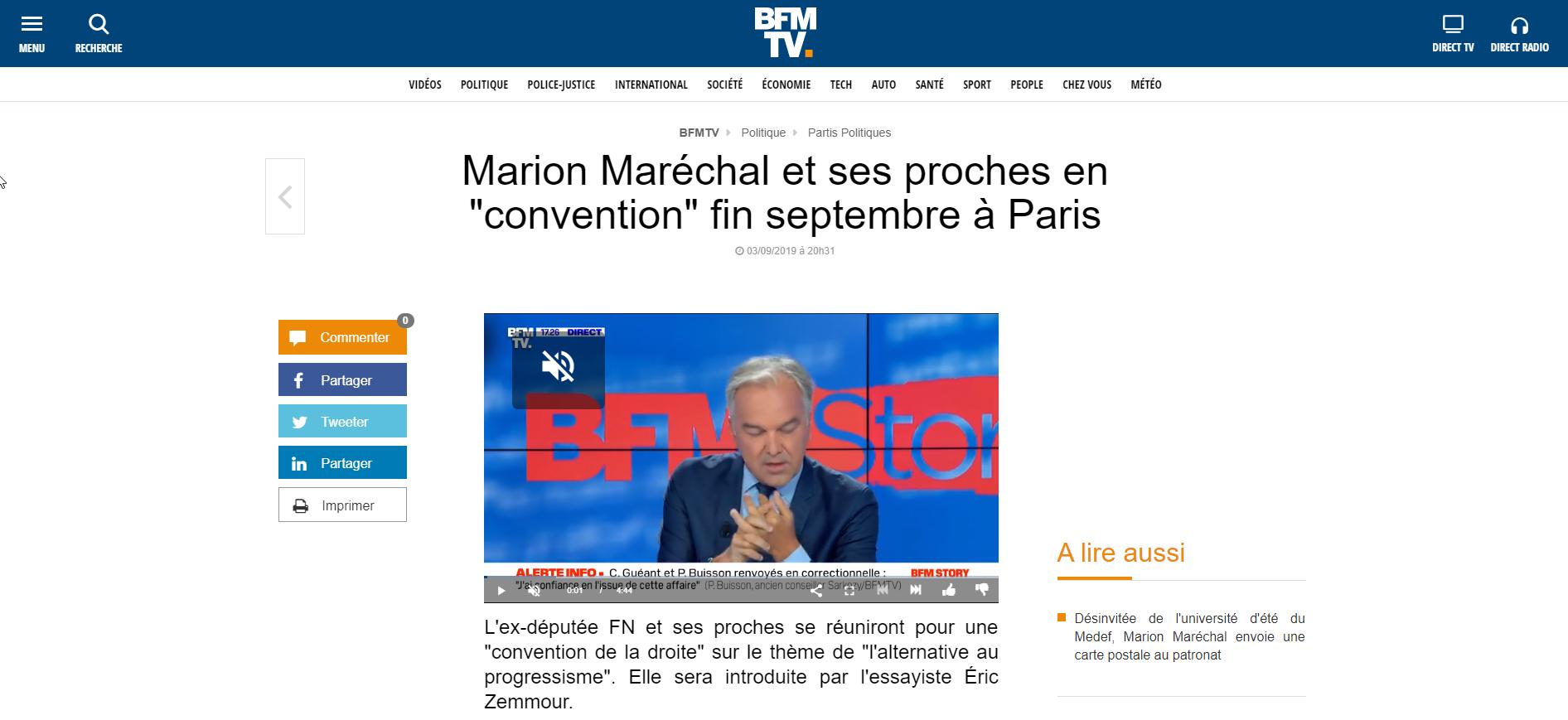 2019-09-04 17_50_17-Marion Maréchal et ses proches en « convention » fin septembre à Paris