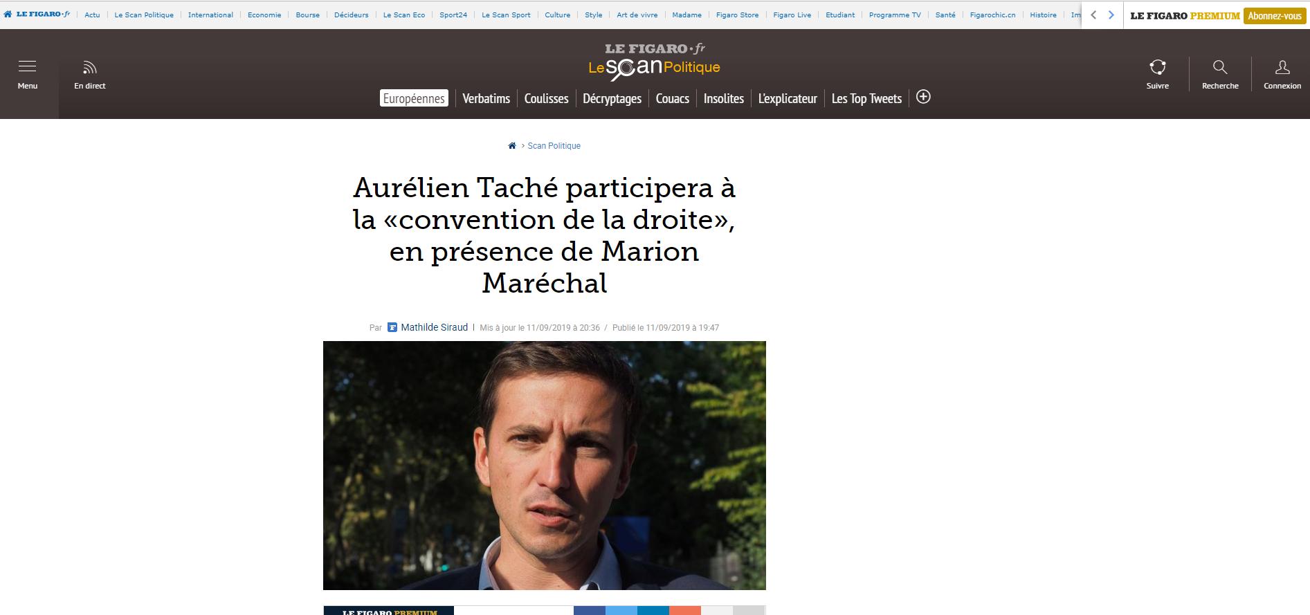 2019-09-12 11_04_43-Aurélien Taché participera à la «convention de la droite», en présence de Marion
