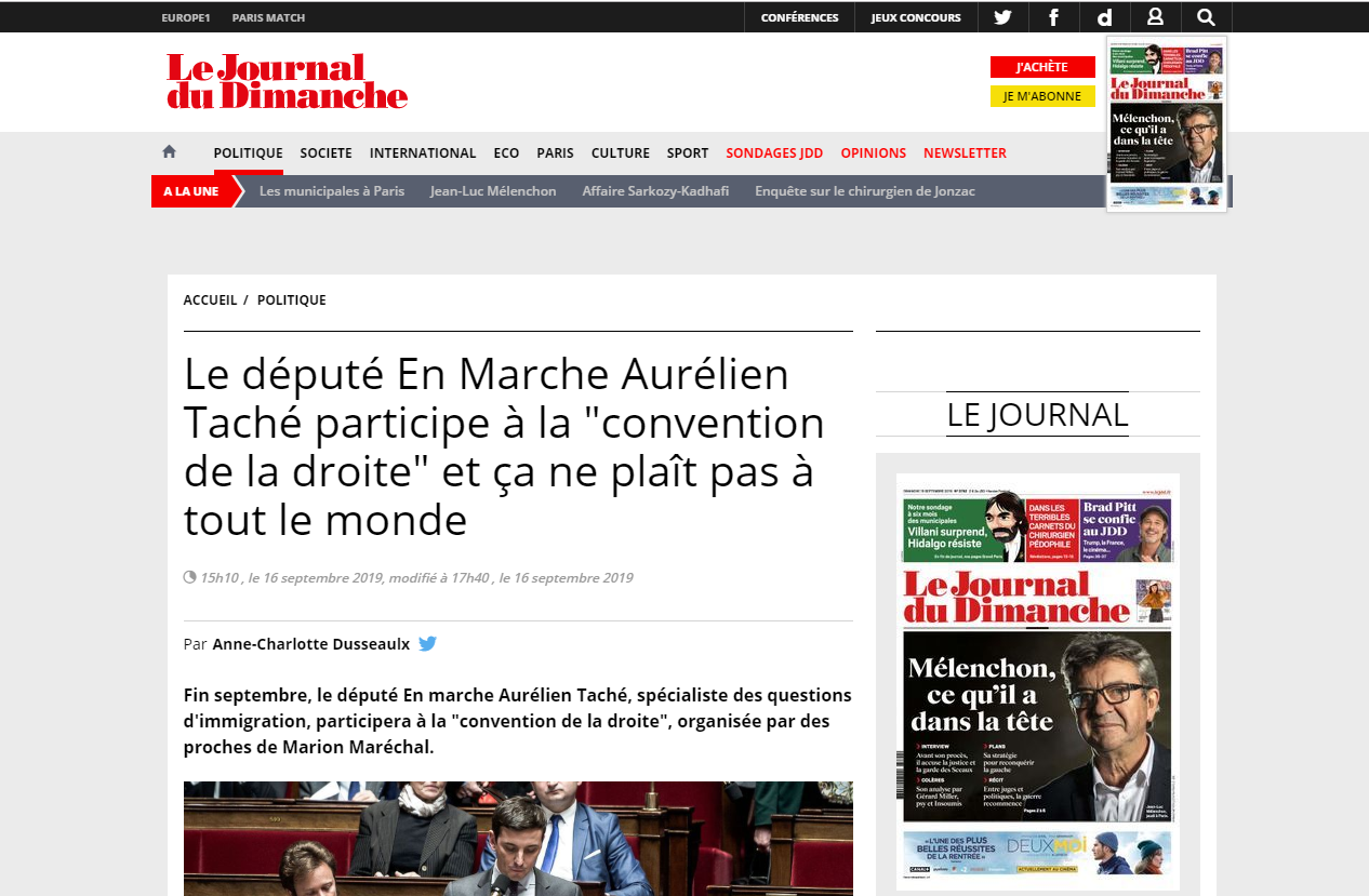 2019-09-17 09_23_43-Le député En Marche Aurélien Taché participe à la _convention de la droite_ et ç